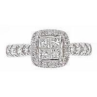 1.00 ct. t.w. Regal Princess Diamond Bridal Ring (I, SI2 ...