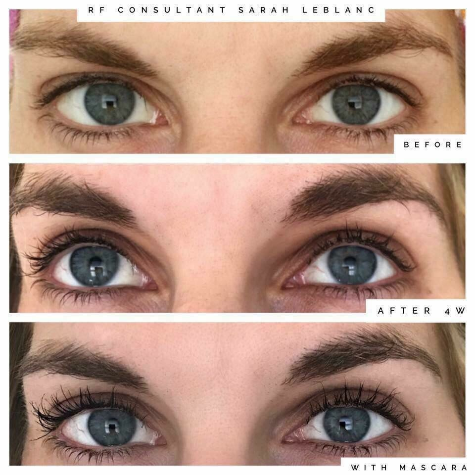 9629b9d55a2 R+F consultant Sarah Leblanc's results after using LASH BOOST for 4 weeks: