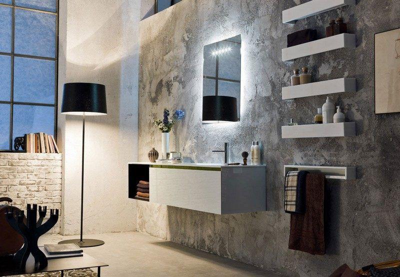 miroir salle de bain lumineux et clairage indirect en 50 ides - Finition Mur Salle De Bain