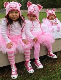 3 little pigs costumes super cute and easy to do - 3 Girl Costumes Halloween