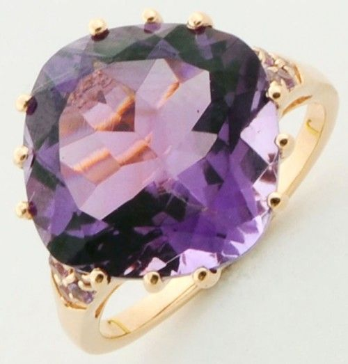 Amethyst 9.20 Carat Natural Gemstone Wedding Ring in Rose Gold Plated