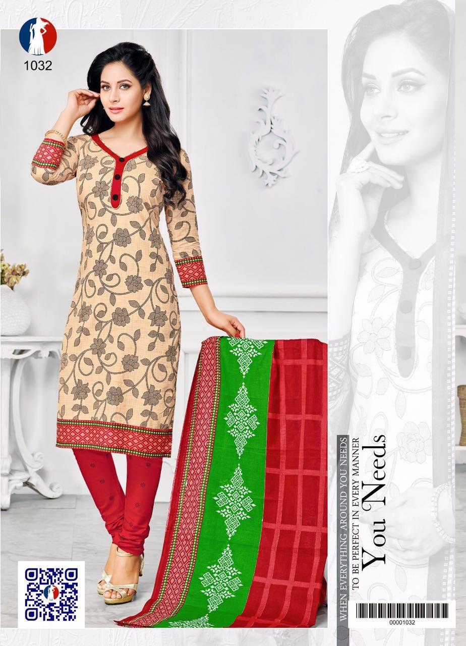 e4f7893a92 Gogars Vol-1 Cotton Suits (10 pc catalog)   wholesale dress material ...