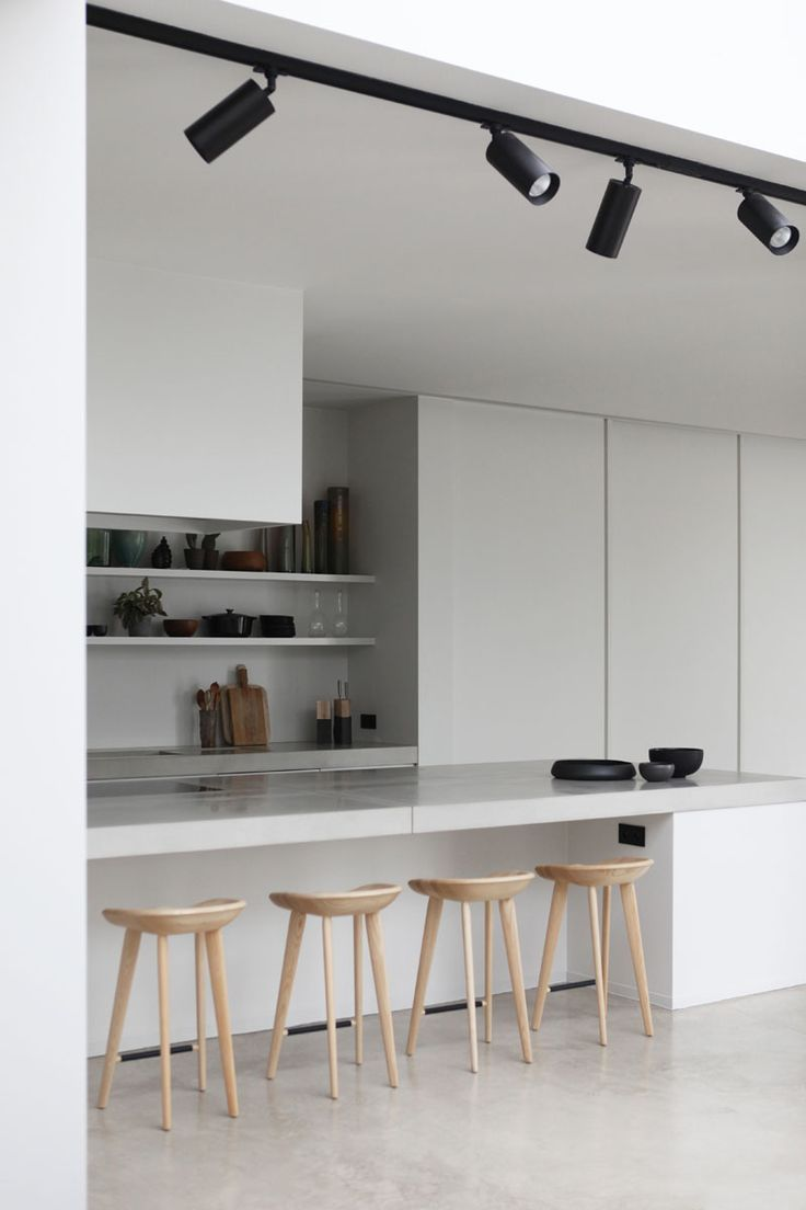 Rolies + Dubois   Loft in Antwerp minimal kitchen with breakfast ...
