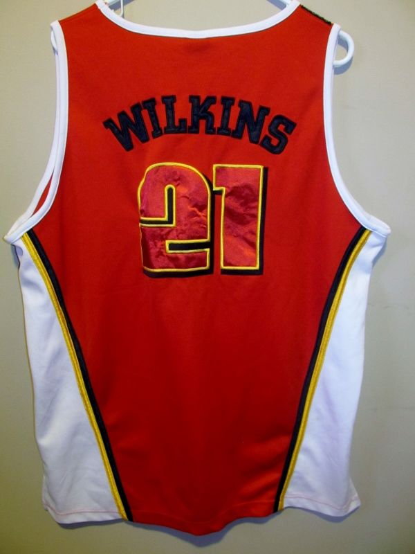 ed17f50b9d3 Dominique Wilkins GIVE AND GO rare Throwback Jersey