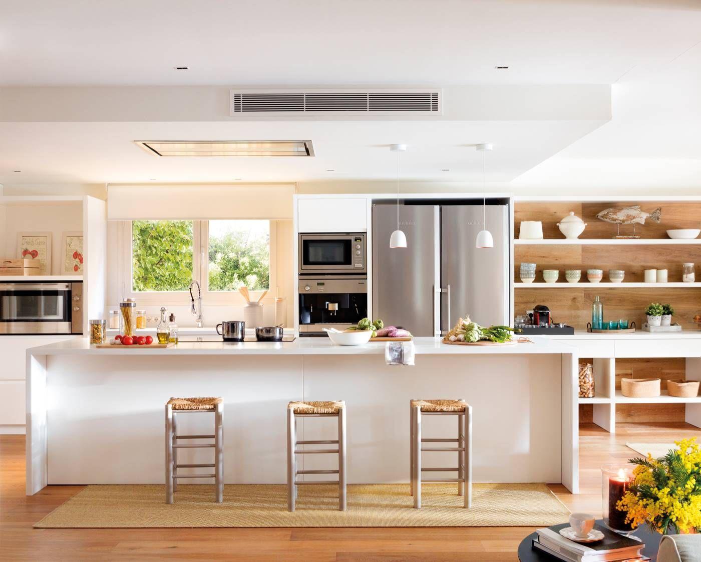 Luz Y Calidez Decoracion De Cocina Cocinas Abiertas Al Comedor Cocinas Abiertas