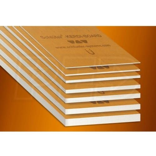 Schluter Kb196252440v Kerdi Board V 3 4 Inch Thick Grooved Waterproof Substrate Building Panel 24 1 2 Inch W X 96 Inch L Qty 6 House Numbers Diy Paneling Outdoor Cat House