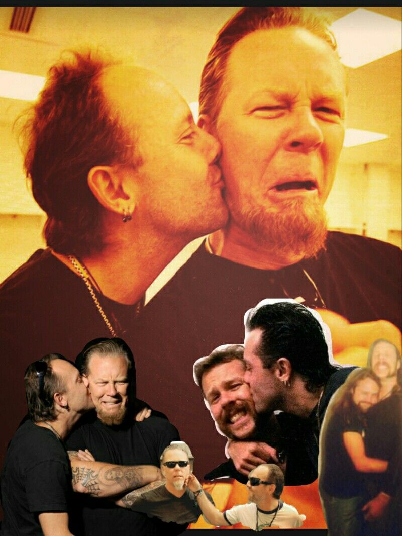 Lars Ulrich And James Hetfield Maybe James Doesn T Like Kisses Metallica James Hetfield Megadeth