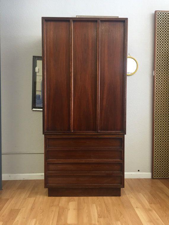 Best 1960S Mid Century Modern Walnut Tall Dresser By John Keal 640 x 480