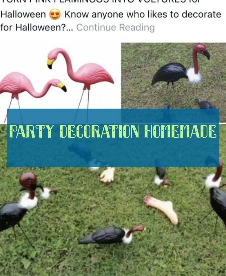party decoration homemade