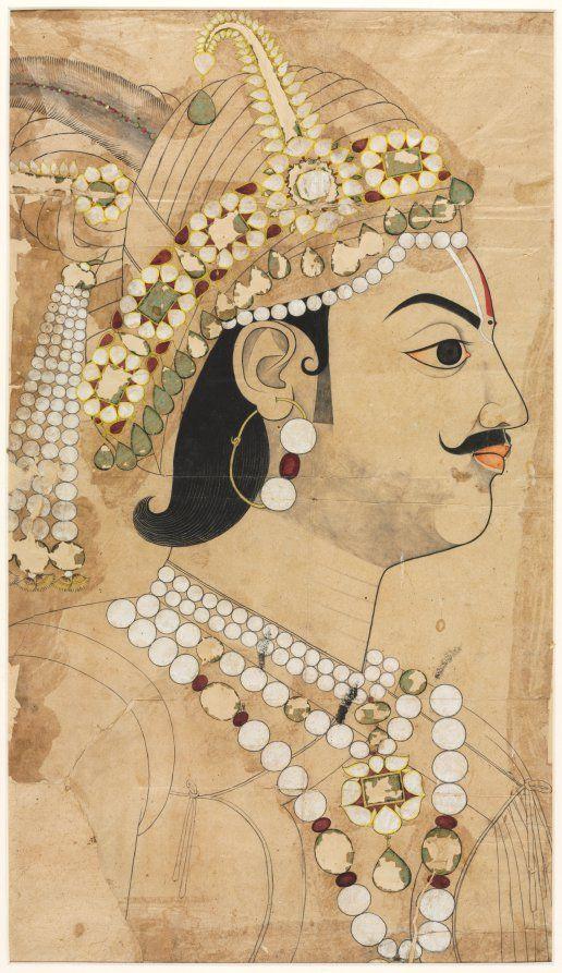 Portrait of Maharaja Pratap Singh