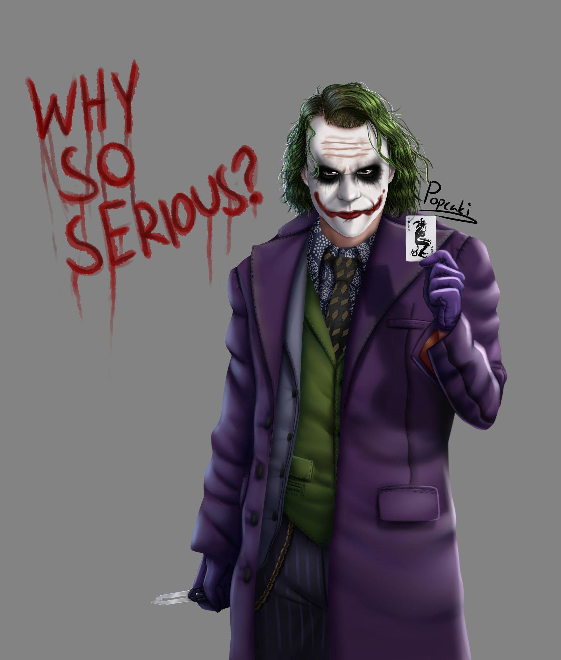 Artstation The Joker Why So Serious Popcaki Joker Pics Joker Images Joker Artwork