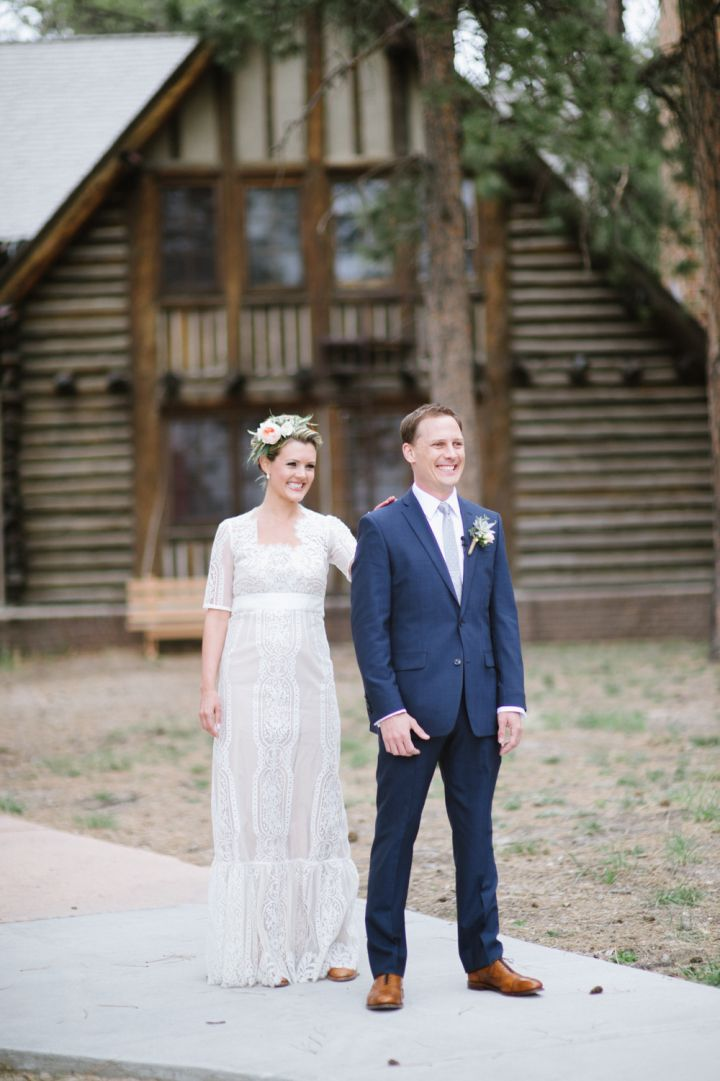 First look bride and groom wedding photo idea | fabmood.com #wedding #rusticwedding #weddingstyle #ido #weddinginspiration