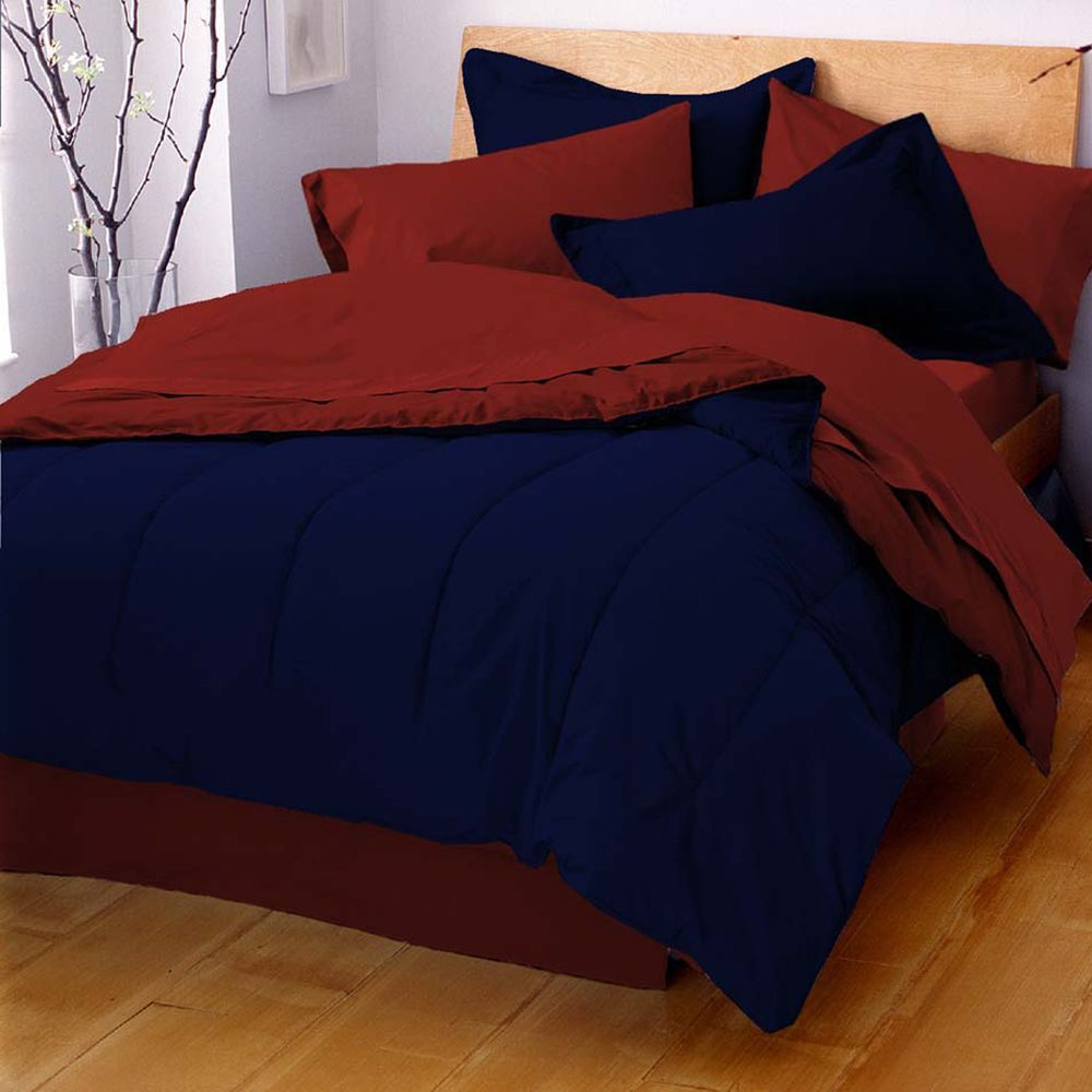 Our reversible solid color comforter matches any décor and mood ... : solid color quilt sets - Adamdwight.com