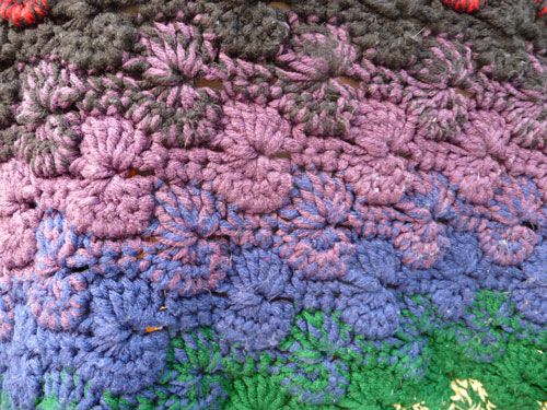 Crochet Afghan Pattern For Variegated Yarn : Catherine Wheel Afghan Pattern Im thinking with ...