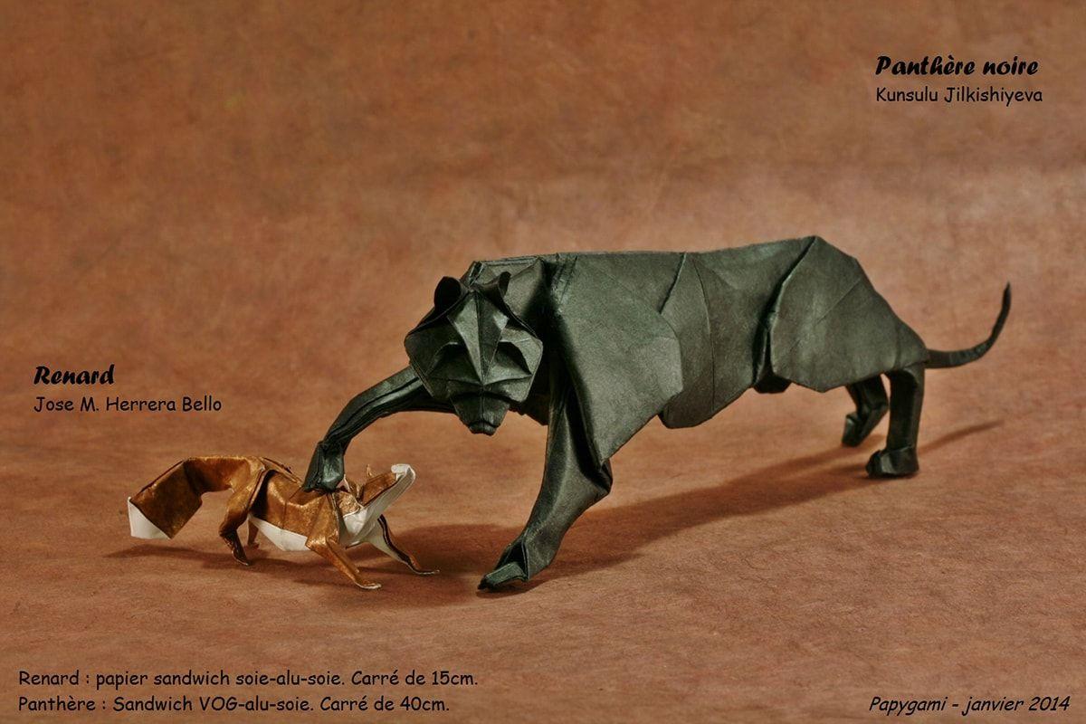 Origami Black Panther Kunsulu Jilkishiyeva