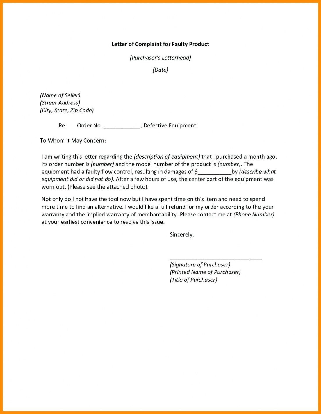 Product Guarantee Letter Template In 2020 Letter Templates