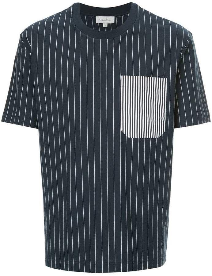 5392715632 CK Calvin Klein striped pocket T-shirt | Products