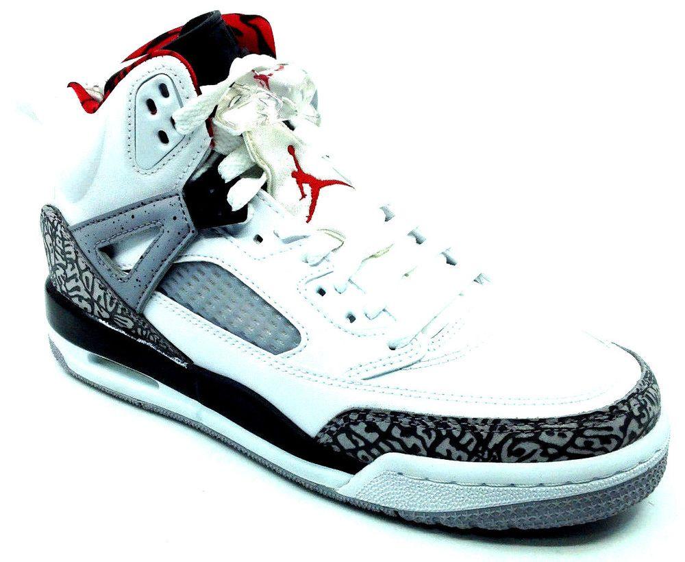 the best attitude cb190 391f3 eBay  Sponsored Jordan Spizike BG Grade School Kids Sneaker 317321-122 Gray  White Black Red