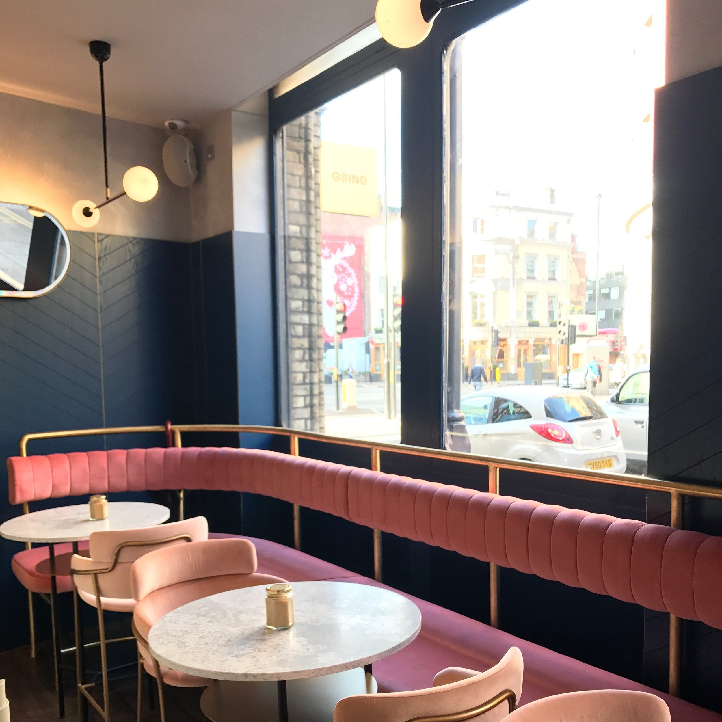 have a coffee underneath these subtle yet chic lights city lighting products www restaurant designpink restaurantresturant design ideasrestaurant