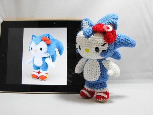 Amigurumi Hello Kitty Sonic | Sister Board | Pinterest