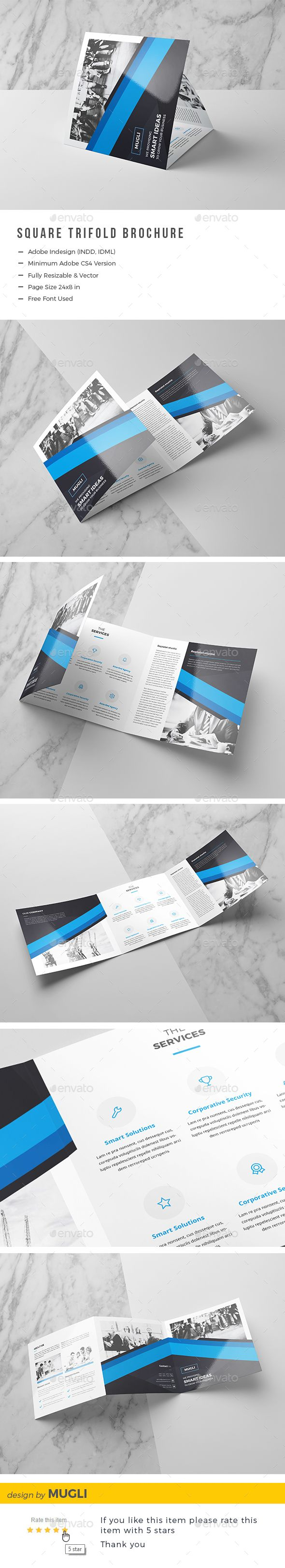 square trifold brochure pinterest brochures brochure template