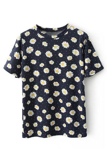 Mens Daisy Bee Flower Short Sleeve Shirt Cool Graphics Tees