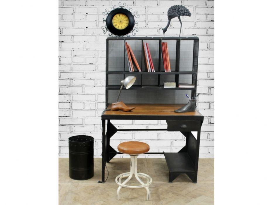 Bureau De Postier Tamani Metal Manguier Canape Vintage Bureau Informatique Bureau