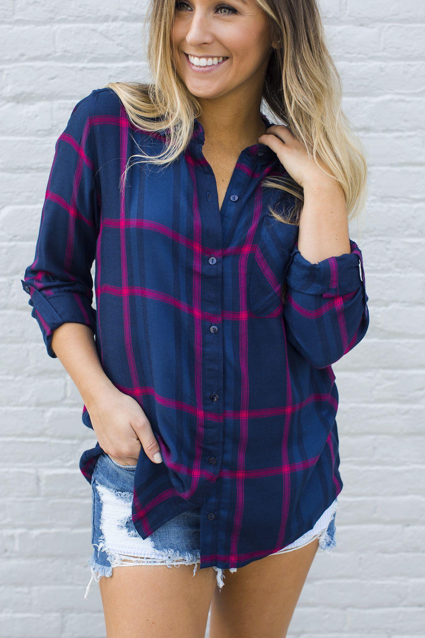 Flannel shirt with khaki pants  NavyRed Plaid Shirt  Tops  Pinterest  Red plaid Plaid and Navy