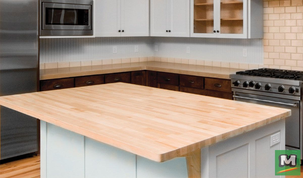 Give Your Kitchen A New Look With Butcher Block Countertop It Can Be Stained To The Color Of Your C Butcher Block Countertops Countertops Laminate Countertops