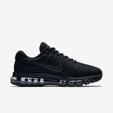 df4ecbd9168 Nike Air Max 2017 Triple Black Running Shoes(36-46)