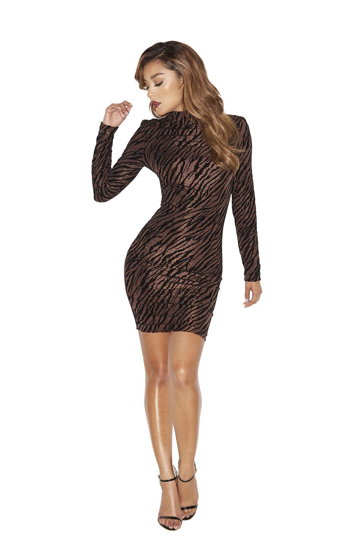 Clothing bodycon dresses usasottau bronze and black stretch