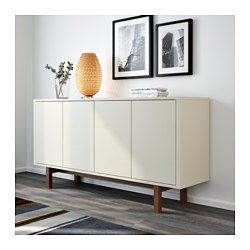 IKEA   STOCKHOLM, Sideboard, Beige, , The Push Openers Give The Sideboard A