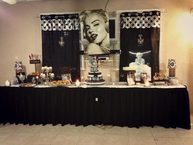 Marilyn Monroe Birthday Marilyn Monroe Inspired Birthday For Mayra Marilyn Monroe Birthday Birthday Parties Hollywood Party Theme