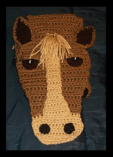 Crochet Horse Scarf Crochet Clothing Scarves