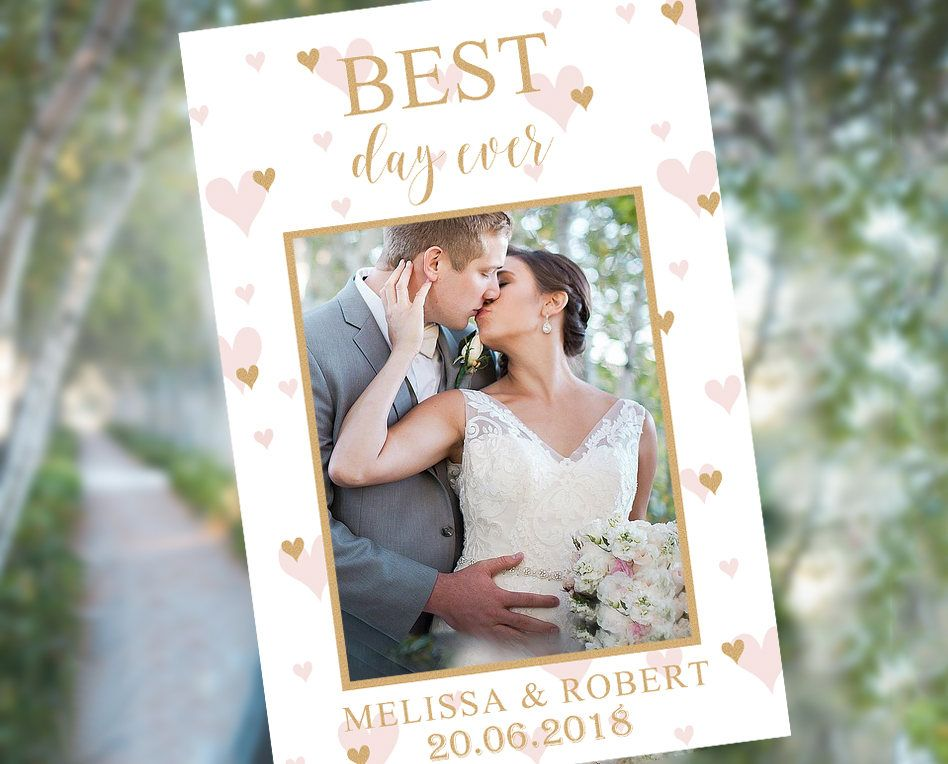 Wedding Photo Booth Prop Frame Template Rose