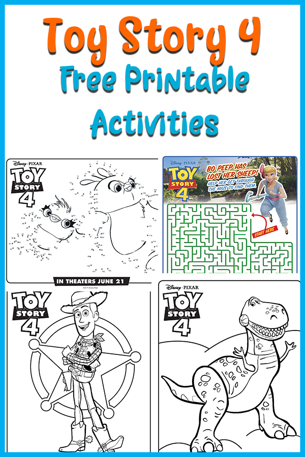 Free Printable Toy Story 4 Coloring Pages And Activities Kids Activity Books Kids Coloring Books Diy Coloring Books