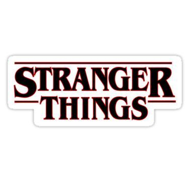 Shop from unique stranger things stickers on redbubble
