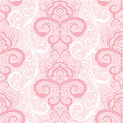 Chr11641 Pink Henna Brocade Vanessa Christel Wallpaper By