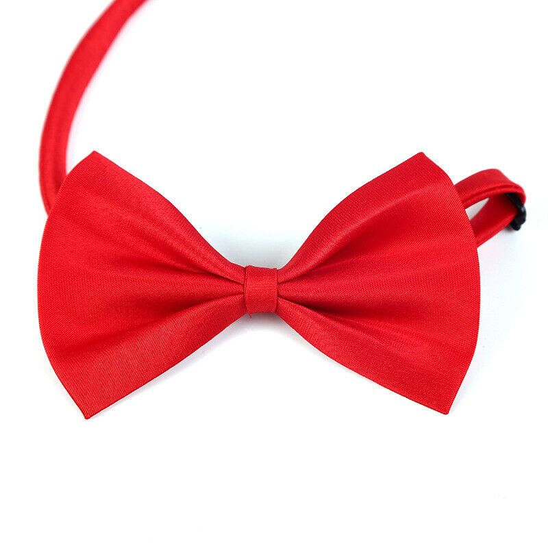 Solid Color Cat Bowtie Pet Puppy Dog Collar Bowknot Necktie Bow Tie Adjustable 075