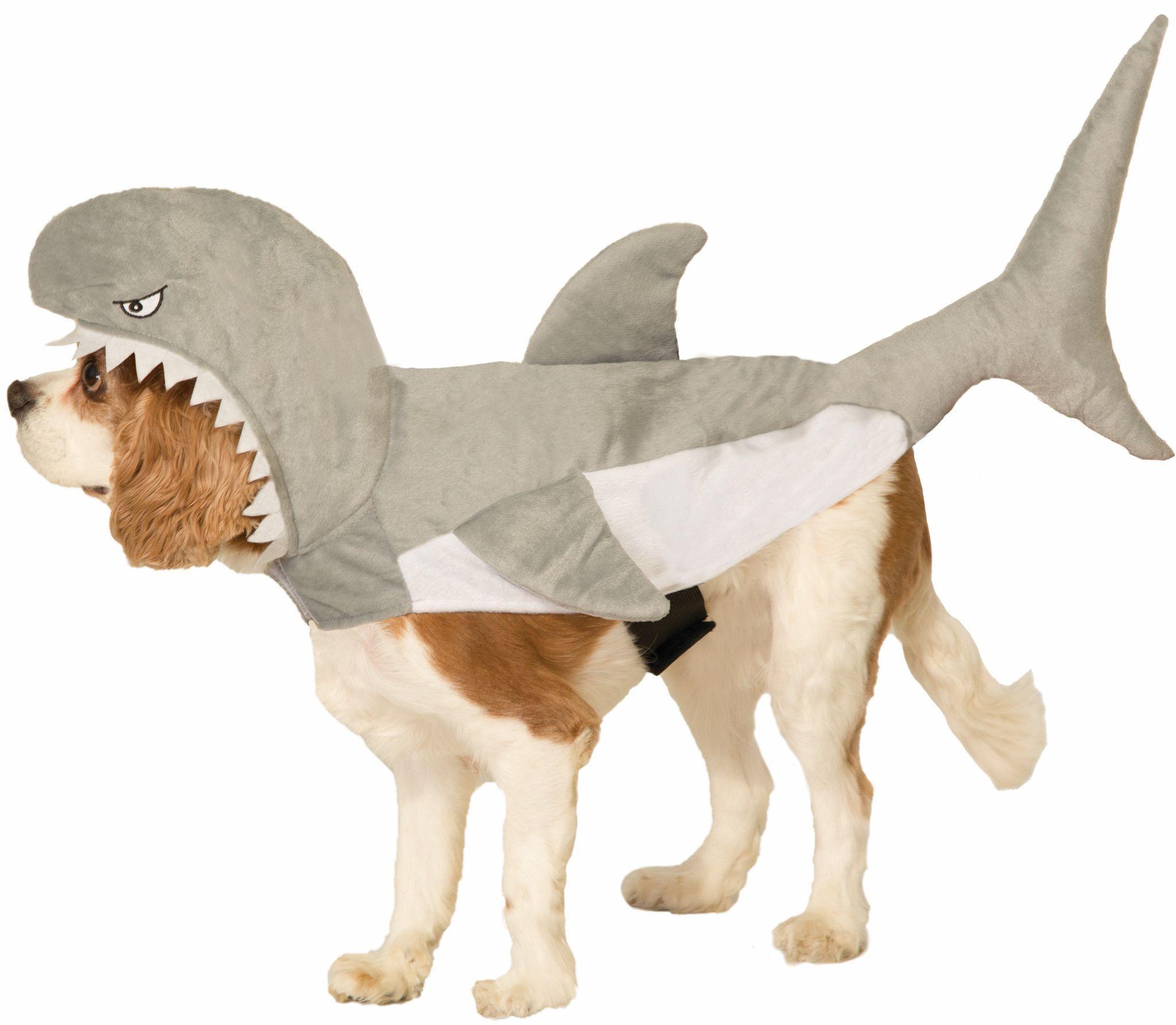 Plush Shark Pet Costume Pet costumes for dogs, Pet