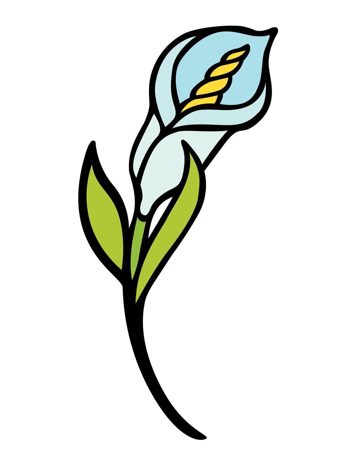 Harvest Festival Blue PrettyFlower-Digital Download-ClipArt-ArtClip-Digital Art