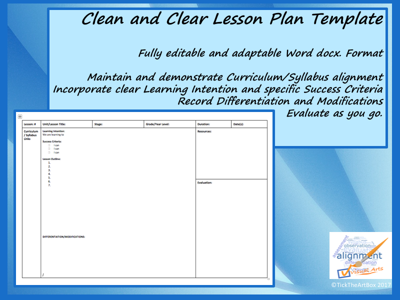 Completely Editable And Adaptable Lesson Plan Template In Word