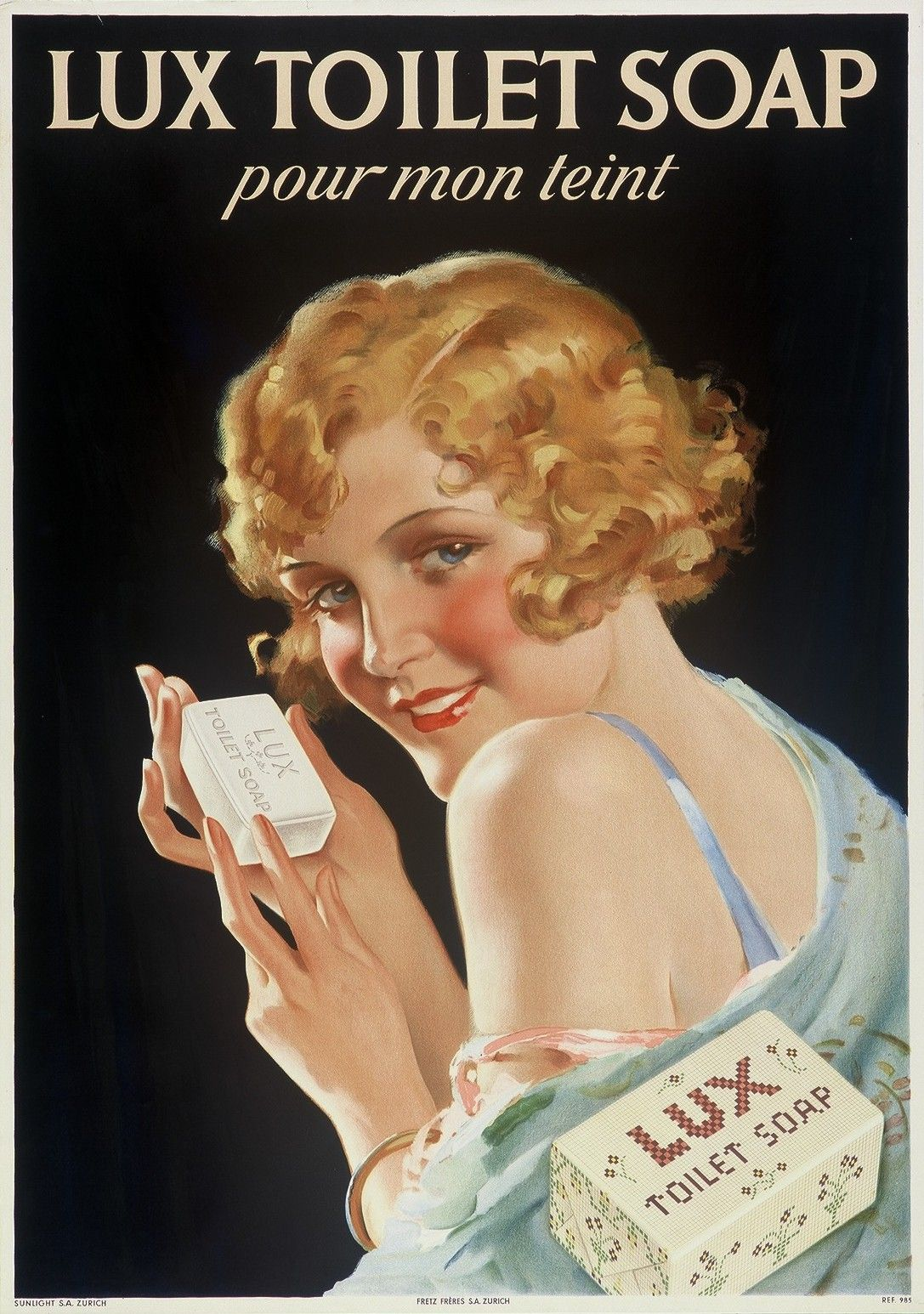 Poster reproduction. Lifebouy soap Vintage advertising