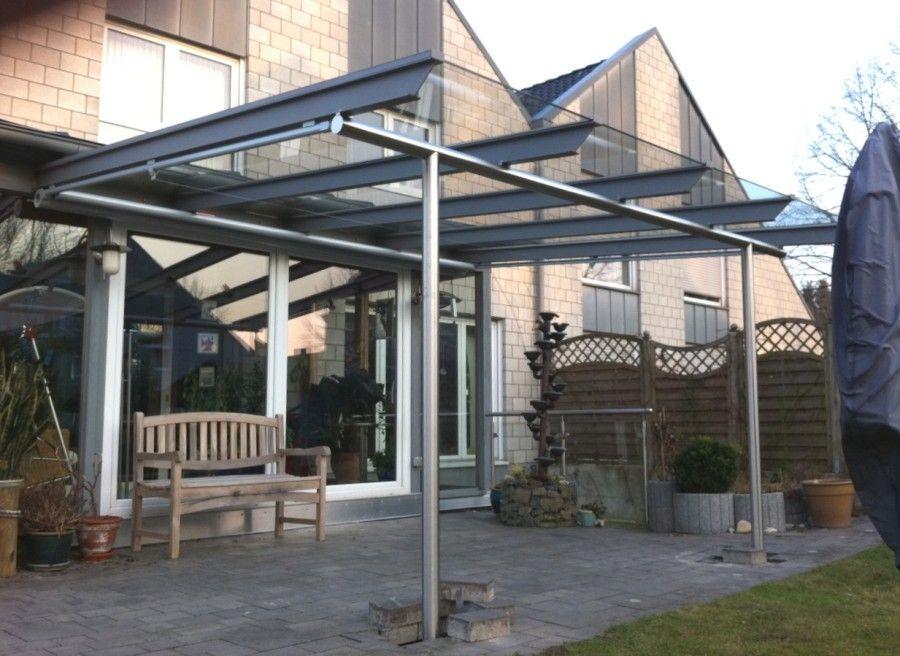 Terrassenuberdachung Mit Glasdach Und Unterglas Markise Bogetec Metallbau Gmbh Glasdach Terrasse Terrassenuberdachung Terrassendach