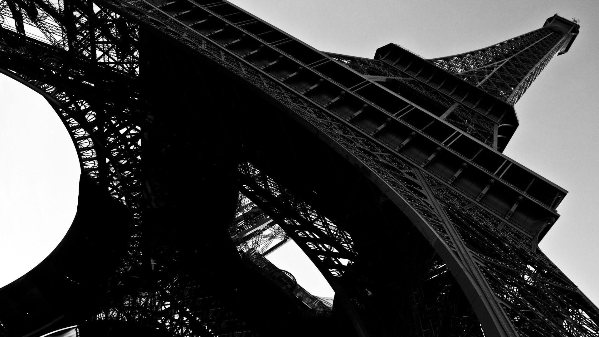Eiffel Tower Hd Wallpaper Black And White HD Wallpaper