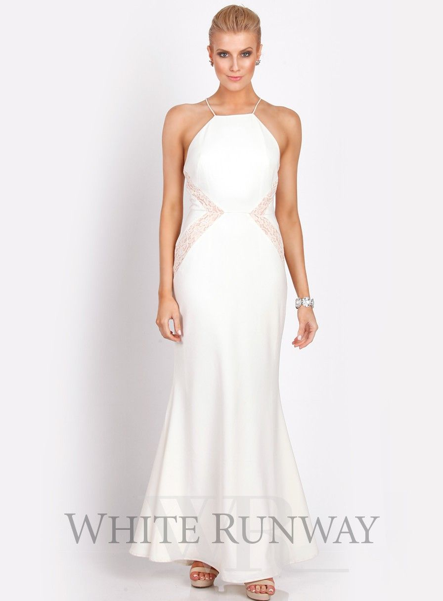 White formal dress white summer pinterest full length dresses