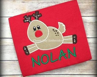 Christmas shirt,- boy Christmas shirt,- boy reindeer shirt,- Christmas monogram,- Christmas gift,- monogram shirt,- Christmas tree