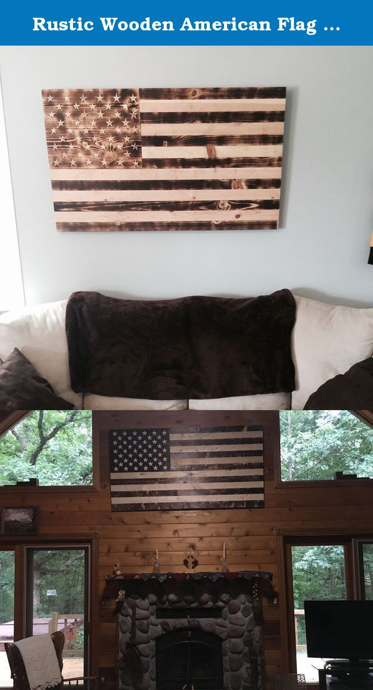 Rustic Wooden American Flag Medium This Beautiful American Flag Is Crafted From