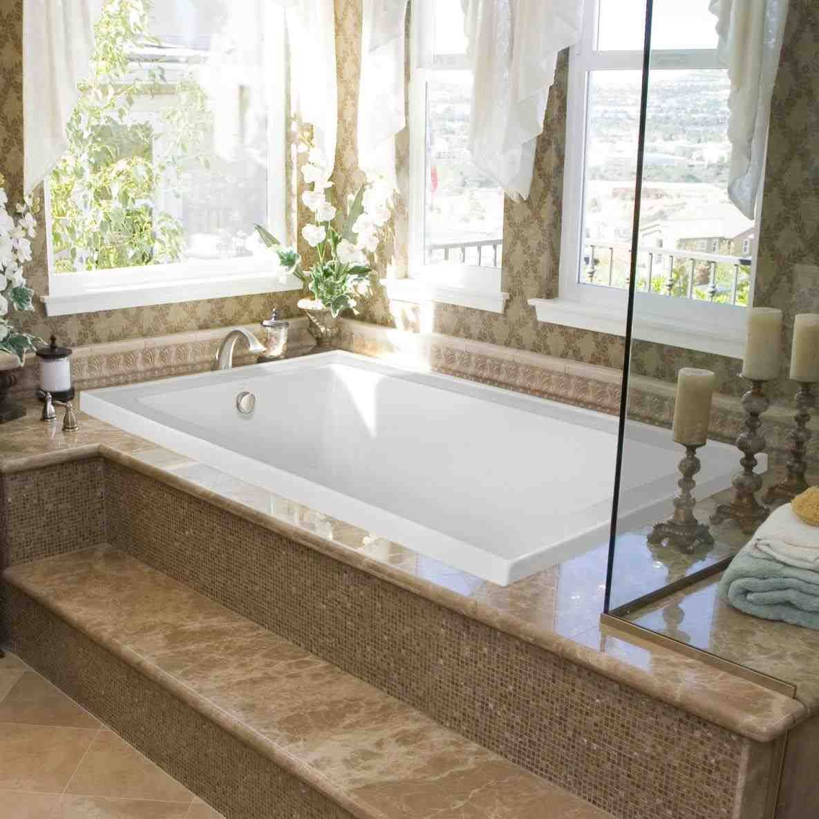 This alcove tub with tile front - bathroom terrific bathtub ...