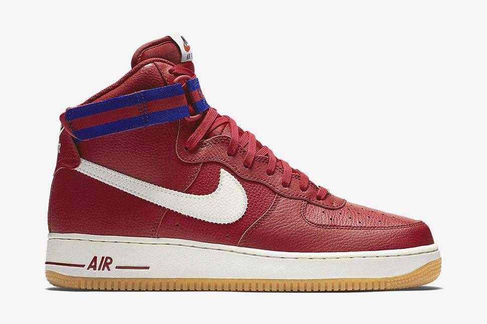 nike air force 1 high 07 gym red\/white\/deep burgundy roshe